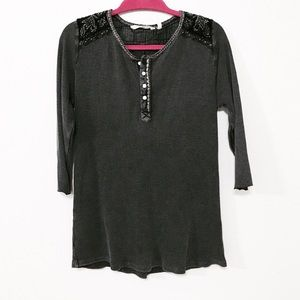 Soft Surroundings Size L embroidered thermal top